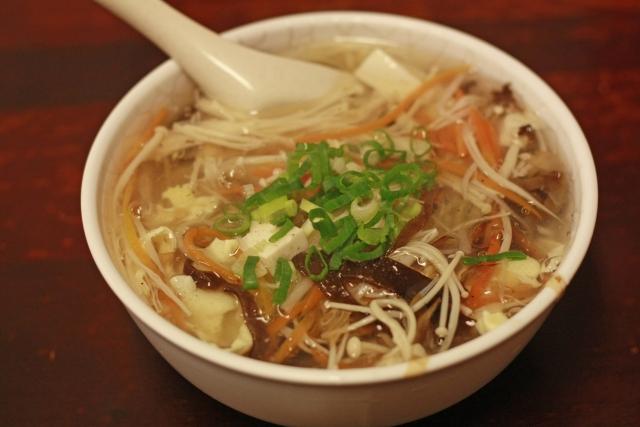 冷凍キノコのスープ